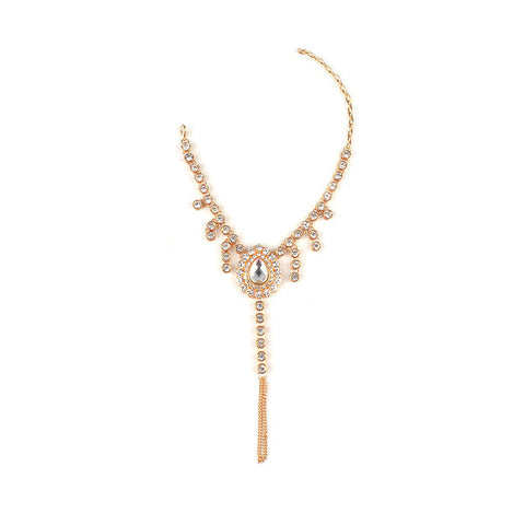 luxury shiny crystal gold color anklet for women