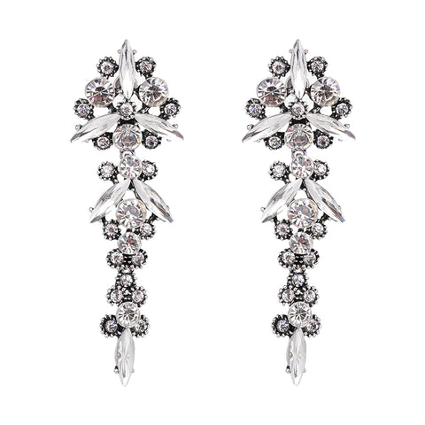luxury style crystal statement earrings for women