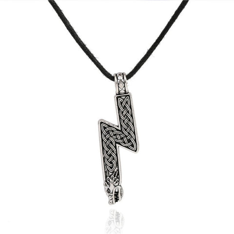 viking rune pendant necklace for men