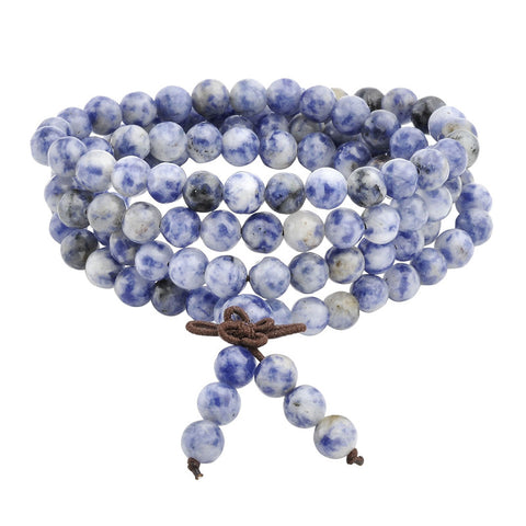 natural stone healing gem buddhist prayer beads bracelet