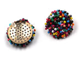 cute colorful tiny beads stud earrings for women