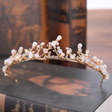 luxury crystal tiara crown bride hair jewelry