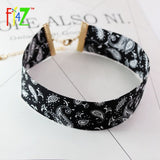 flower print collar choker necklace for women