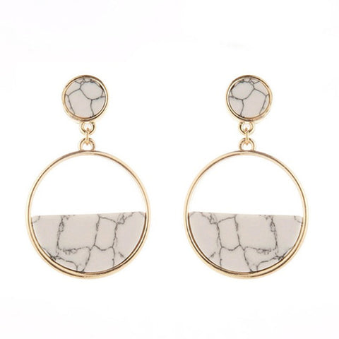 minimalist geometric circular earrings Women jewelry earring