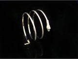 snake spiral cuff bangle upper arm bracelet for women