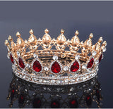 vintage big crystal hair band tiara crown for women