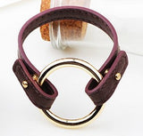 rock style genuine leather men bracelet & bangle