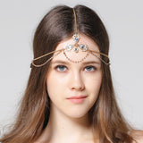 bohemian rhinestone headband hair jewelry for women