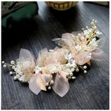 elegant rhinestone imitate pearl beads head band hair jewelry