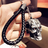 cool terminator skull car key chain for men