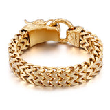 gold color stainless steel dragon head bracelet & bangle