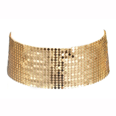 sequins wide mesh choker exaggerated necklace for women