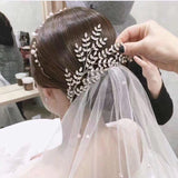 silver pageant headband rhinestone leaves bridal hair jewelry