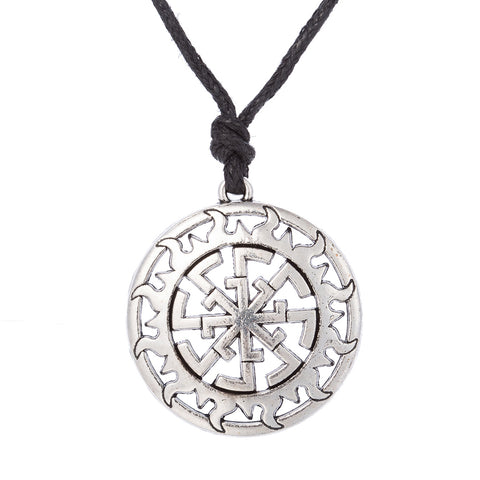 slavic sun circle talisman amulet necklace pendant