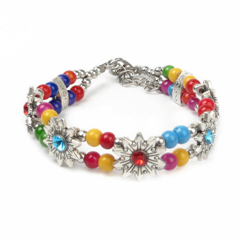 exquisite multicolor beads bracelet for women