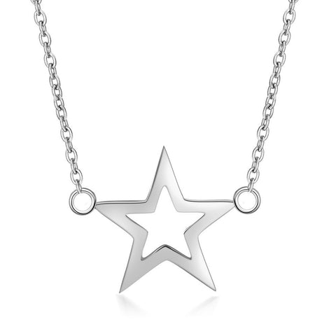 stainless steel star pendant necklace for woman