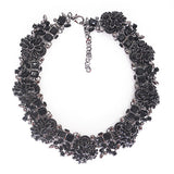 full crystal choker statement necklace for women