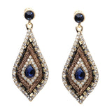luxury water drop statement crystal earrings