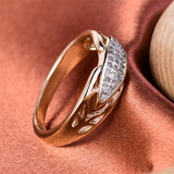 gold color cubic zirconia stone ring for women
