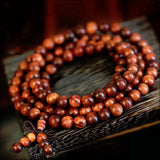 red willow tibetan buddhist sandalwood prayer beads bracelet
