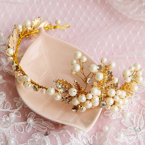 romantic simulated pearl hair band for women