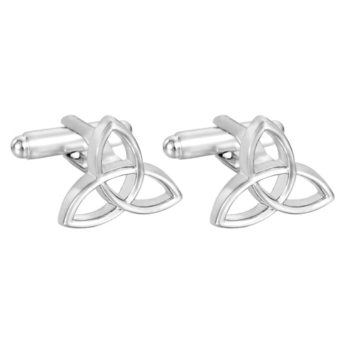 silver color Ireland style knot cufflink for men