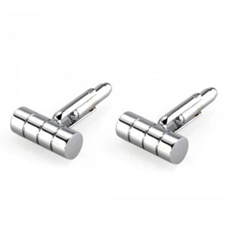 ellipse 4 strip stainless steel cufflinks for men