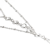gold/silver color crystal anklet for women
