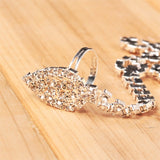 sexy rhinestone crystal toe anklet for women