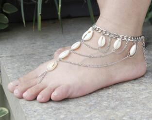 multi layer shell anklet for women