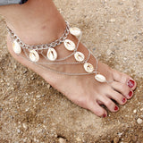 shell tassel pendant anklet for women