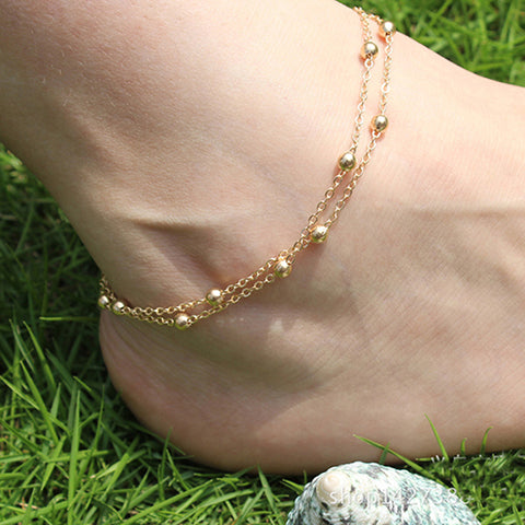 simple beads leg chain anklet for women