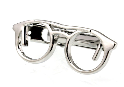silver color glasses tie clip for men