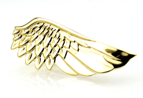 gold color wing tie clip for men