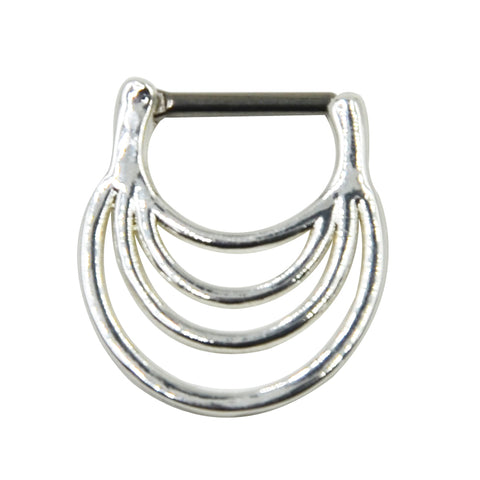 silver color piercing clicker nose ring