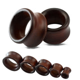 wood flesh ear tunnel stretcher plug earrings