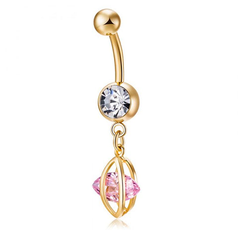 simple ghorsesye Zircon Navel belly button ring