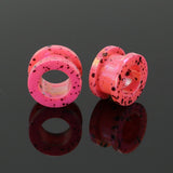 medical acrylic pink ear plugs and tunnels gauge earrings