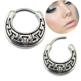 stainless steel piercing septum nose ring