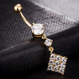 stainless steel navel crystal belly button ring