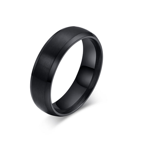 stainless steel black/gold color ring for men