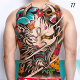 cool samurai worrier whole back waterproof temporary tattoo
