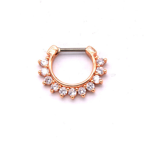 real septum clicker piercing nose ring for women