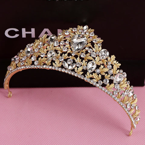 golden rhinestone dragonfly tiara crown bridal hair jewelry