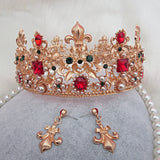 luxury crystal tiara crown bridal hair jewelry