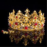 colorful gem tiara crown bridal hair jewelry