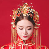 vintage chinese traditional wedding hair jewelry