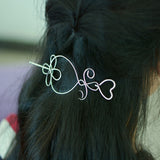 trendy gold color heart shaped hair pin for women
