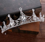 rhinestone tiara crown bride hair jewelry