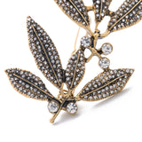vintage leaf barrette hair jewelry for women